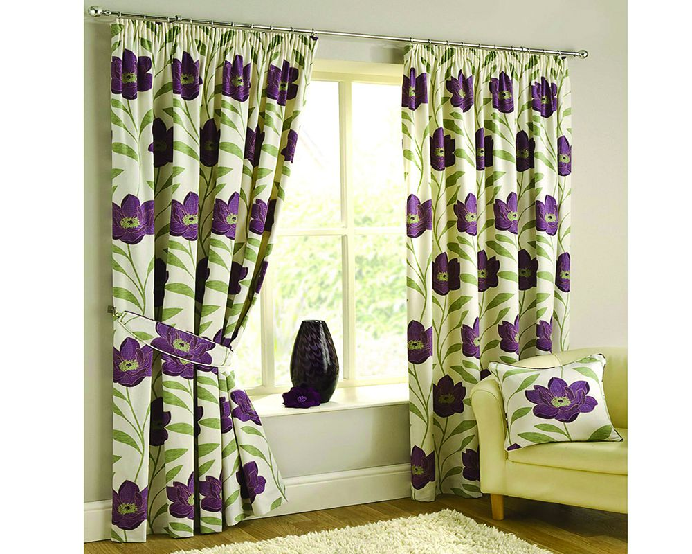 Plum colored curtains